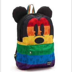 LOUNGEFLY DISNEY PARKS rainbow Mickey Mouse!